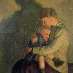 Summerfield Trust News William Rothenstein Mother and Chilkd The Wilson Embrace Exhibition